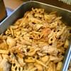 揚げ鶏と根菜の和えもの
