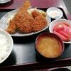 西川口の「あおき食堂」でさんまフライとメンチカツと魚肉ソーセージフライと玉ねぎフライ定食を食べました★