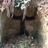 山の中にひっそりとたたずむ Tの刻印がなされた不思議な横穴(横須賀市)