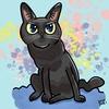 黒猫の似顔絵サンプル