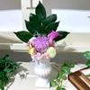 【生徒様作品♪】パープルの輪菊で作る仏花♪