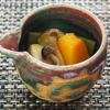 南瓜とモロッコインゲン、ブナシメジ、高野豆腐の炊いたん