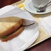 朝カフェBセット あつあつハムチーズ ~2種のとろけるナチュラルチーズ~@ドトールコーヒーショップ 札幌大通西3丁目店