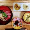 エンガワとマグロの海鮮丼