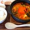 丸ごとトマトと鶏肉の鍋(外食)