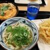 丸亀製麺で親子丼定食。ぶっかけうどん。