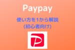 【Pay pay】使い方を1から解説【初心者向け】