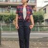 今日の服|ボタンダウンシャツ×ベイカーパンツをやわらかい雰囲気で着てみた
