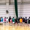 総合体育館で1日練習。