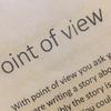 """クリエイティブ・ライティング講座 """"Point of View"""""""