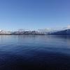 湖岸雪化粧