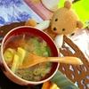 豚しゃぶ残り汁リサイクル!筍と茸のコク味噌汁