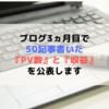 【雑談】ブログ3ヵ月目で50記事達成した『PV数』と『収益』を公表します。【報告】