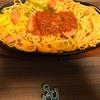 明宝トマトケチャップを崩して食べる「特製あっさりナポリタン」!?