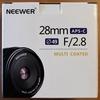 【NEEWER 28mm】中華製激安レンズ購入してみました。
