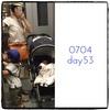 産後53日〜59日、今週の授乳ママコーデ。暑くて帽子をまた増やしました…!