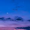 星景サルベージその8・朝焼けの金星と月