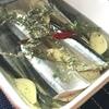 アヒージョの具に秋刀魚は有りなんだ