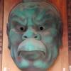 高尾山の天狗です。見れば見るほど、恐い顔です。