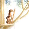 アクリル絵具「もっきん もんきち〜いそがしすぎる毎日」