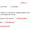 【DTZ A1/B1】ドイツ語試験『ライティング(Schriftlicher Ausdruck (Brief))』攻略法①