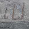 画像加工第2弾 帆船「日本丸」ペーパーモデルアート その13 荒天編