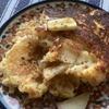 余ったパン粉でふんわりパンケーキ【りんごのフレンチトースト風】