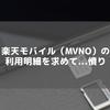 楽天モバイル(MVNO)の利用明細を求めて...憤り