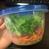 秘書ランチ@Oisixの野菜でサラダ&ベーグル