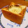 角食パンのカマンベールチーズフォンデュ風