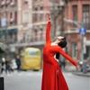 上海街頭バレエ撮影会・動体撮影は難しい。