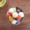 白玉団子で和菓子屋気分を味わう