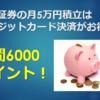 楽天証券の月5万円積立はクレジットカード決済がお得!