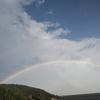 虹とマコモ