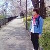 今日の服 桜色スニーカーとフェードブルーのデニムジャケットでお花見コーデ