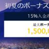 【Milton Markets】15%初夏のボーナスキャンペーン【6月30日まで期間延長】