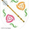 鎚矛の紋章。華とセットで。