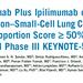 【KEYNOTE598】残念!PD-L1高発現の未治療非小細胞肺がんに対しぺムブロリズマブにイピリムマブの上乗せ効果なし