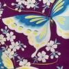 桜と蝶の小紋×アールデコ蝶 名古屋帯