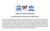 G7共同声明「オリンピック支持・台湾海峡の平和が重要・WHO強化」:2021英国コーンウォールサミット