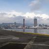 神戸ハーバーランドの風が強かった日に、メレンゲ菓子を作り直しました。