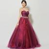 クラシックコンサートで使用されるアメジストのような赤色の演奏会ドレスを選ばれたお客様のご意見