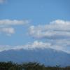 ◆初冠雪の鳥海山・月山 & ピカピカな月
