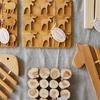 北欧キッチン雑貨/スカンジナビスク・ヘムスロイドの木のポットマット(鍋敷き)