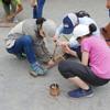 8年生の合宿.    8Klässler Vorbereitung für die Kanufahrt