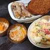 豚肉大葉巻き、デリ風目指したサラダ、スープ