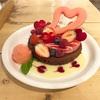 バレンタイン限定♡ベリームース×ショコラパンケーキ(cafe accueil @恵比寿)
