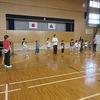 やまびこ:学習発表会の練習 in 体育館
