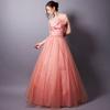 コントラバスの発表会で使われるペツォッタイトを連想させるピンクカラーの演奏会ドレスを購入されたお客様の体験談
