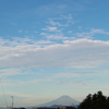 今朝の「富士山」。